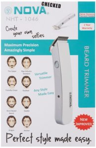 Best Men's beard trimmer from Nova brand in India